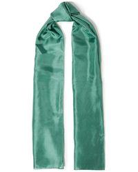 American Vintage Washed-silk Scarf - Green