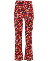 Marni Floral-print Mid-rise Bootcut Jeans - Red