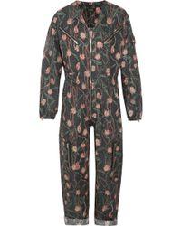 Isabel Marant - Laney Floral-print Cotton And Linen-blend Jumpsuit - Lyst