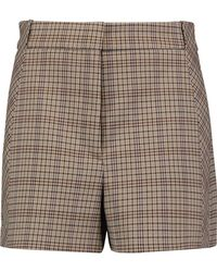 Sandro - Checked Twill Shorts Light Brown Size 40 - Lyst