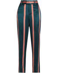 Equipment - Striped Washed-silk Straight-leg Pants - Lyst