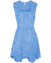 Catherine Deane - Asymmetric Guipure Lace Dress Light Blue - Lyst