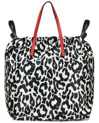 Marni Leather-trimmed Leopard-print Satin Backpack - Black