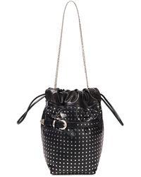 IRO Belty Studded Leather Bucket Bag - Black