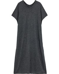 ATM Wool And Cashmere-blend Poncho Dark Grey