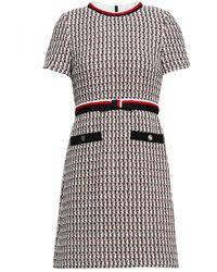 Maje Rivi Minikleid Aus Tweed Aus Einer Baumwollmischung Mit Metallic-effekt - Mehrfarbig