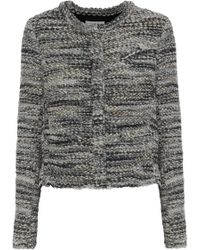 IRO - Woman Carene Bouclé-tweed Jacket Grey - Lyst