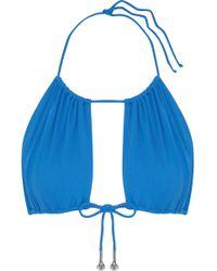 La Perla - Embellished Bow-detailed Bikini Top - Lyst
