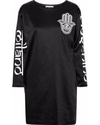Lyst - Moschino Underbear Cotton Jersey Dress in Black a82f8a867