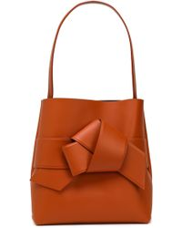 Acne Studios Musubi Large Knotted Leather Bucket Bag Tan - Brown