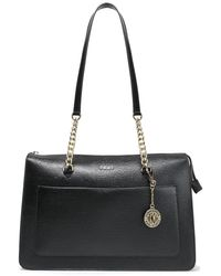 DKNY Bryant Park Textured-leather Tote Black