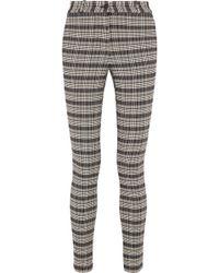 Victoria Beckham - Checked Tweed Skinny Pants - Lyst