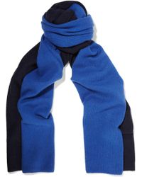 Magaschoni Two-tone Cashmere Scarf - Blue
