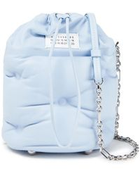 Maison Margiela Glam Slam Quilted Leather Bucket Bag Sky Blue