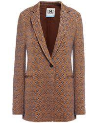 M Missoni Jacquard-knit Blazer - Brown