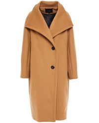 Maje Double-breasted Wool-blend Felt Coat - Natural