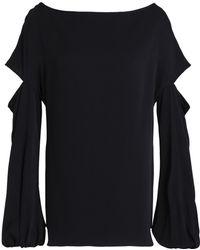 MILLY - Dahlia Cutout Stretch-silk Blouse - Lyst