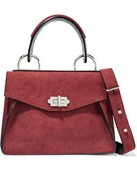 Proenza Schouler - Hava Small Leather-trimmed Nubuck Shoulder Bag - Lyst