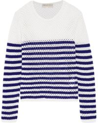 Emilio Pucci - Striped Open-knit Cashmere Sweater - Lyst