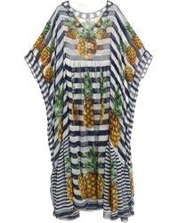 Dolce & Gabbana - Striped Silk-chiffon Kaftan - Lyst