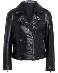 Muubaa Bella Leather Biker Jacket - Black