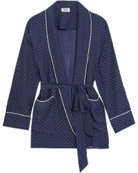Sleepy Jones - Agnelli Printed Silk-charmeuse Jacket - Lyst