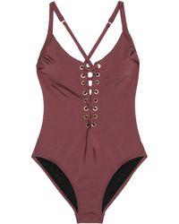 Heidi Klum - Majestic Lace-up Swimsuit - Lyst