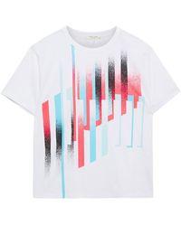 Rag & Bone Printed Cotton-jersey T-shirt - White