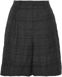 Brunello Cucinelli - Sequin-embellished Wool And Linen-blend Shorts - Lyst
