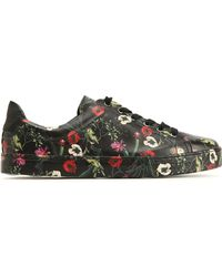 Schutz - Floral-print Leather Trainers - Lyst