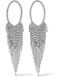 Kenneth Jay Lane - Silver-tone Crystal Earrings - Lyst