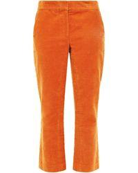 Tory Burch Khloe Cropped Bootcut Trousers - Orange