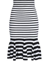 McQ - Fluted Striped Wool Skirt - Lyst