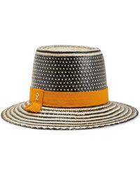 Yosuzi Nancy Woven Straw Hat - Black