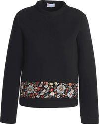 RED Valentino - Embroidered Cotton-neoprene Sweatshirt - Lyst