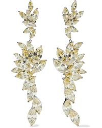 CZ by Kenneth Jay Lane Rhodium-plated Crystal Earrings Gold - Metallic