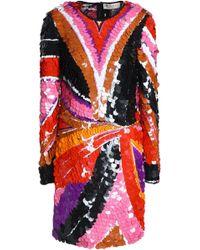Emilio Pucci - Sequined Tulle Mini Dress - Lyst