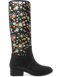 Tory Burch - April Floral-print Neoprene And Rubber Rain Boots - Lyst