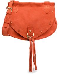 See By Chloé - Collins Studded Suede Shoulder Bag - Lyst