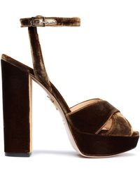 Charlotte Olympia - Velvet Platform Sandals - Lyst