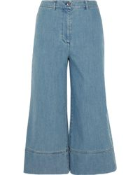 Michael Kors - Cropped High-rise Wide-leg Jeans - Lyst