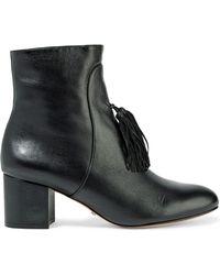 Schutz - Aleesa Suede Tassled Leather Ankle Boots - Lyst