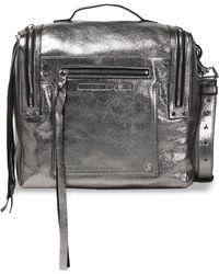McQ - Fringe-trimmed Glossed-leather Shoulder Bag - Lyst