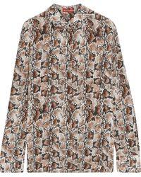 Altuzarra Snake-print Silk-crepe Shirt - Multicolor