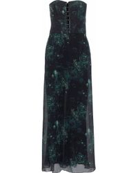 Haute Hippie - Strapless Layered Crepe And Floral-print Silk-chiffon Jumpsuit - Lyst
