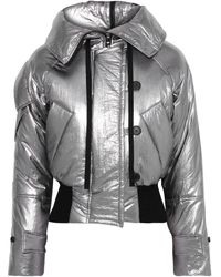 Robert Rodriguez Cropped Metallic Crinkled-shell Hooded Jacket Silver