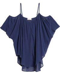 Mara Hoffman - Cold-shoulder Cotton-gauze Coverup Midnight Blue - Lyst