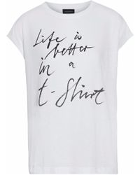 By Malene Birger - Printed Cotton And Modal-blend T-shirt - Lyst