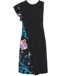 Emilio Pucci - Ruffled Printed Crepe Dress - Lyst