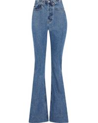 Solace London - Hettie High-rise Flared Jeans Mid Denim - Lyst
